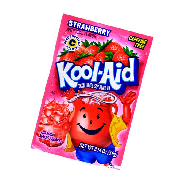 Kool Aid Instant Mix Strawberry Tüte
