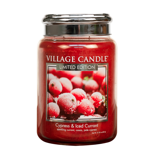 Village Candle Cypress & Iced Currant 602g
