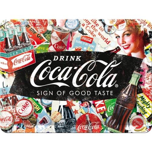 Nostalgic Art Coca Cola Collage Blechschild 15x20 cm