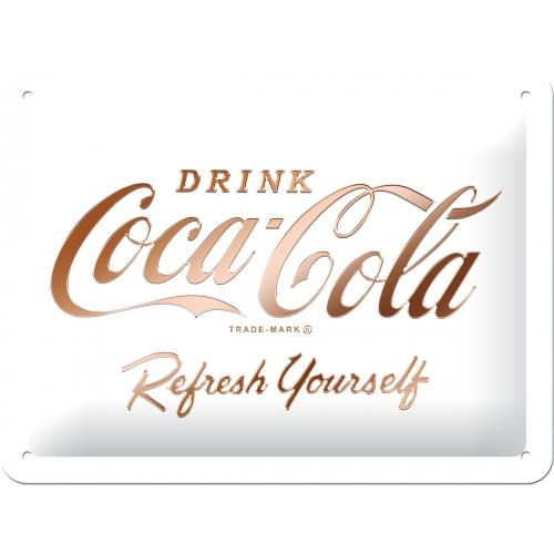 Nostalgic Art Coca Cola White Refresh Blechschild 15x20 cm
