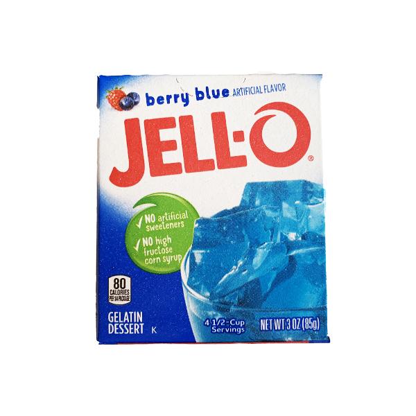 JELLO- Gelatin Dessert Berry Blue