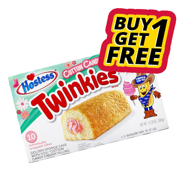 Buy 1 Get 1 Free | Hostess Twinkies Cotton Candy