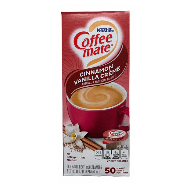 Nestle Coffee Mate Cinnamon Vanilla 50er Box