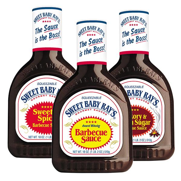 3er Spar-Pack   Sweet Baby Rays BBQ Saucen