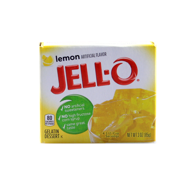 JELLO- Gelatin Dessert Lemon