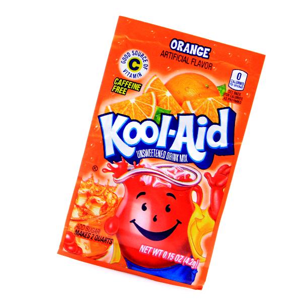 Kool Aid Drink Mix Orange Tüten