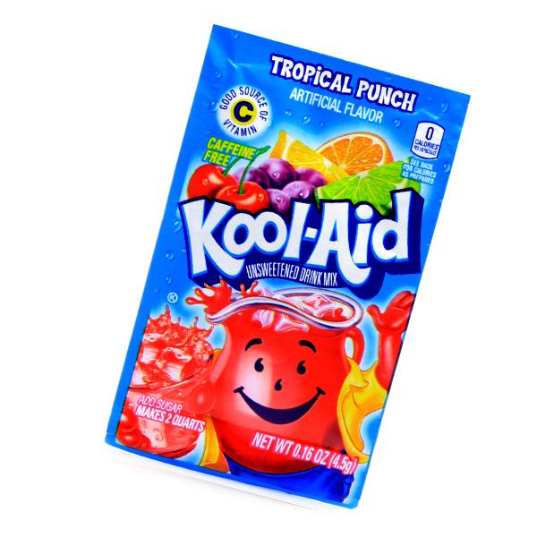 Kool Aid Drink Mix Tropical Punch Tüte