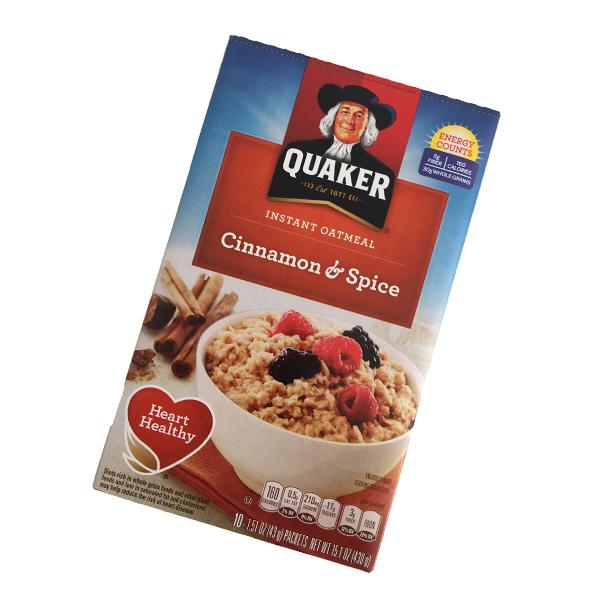 Quaker instant Oatmeal - Cinnamon & Spice