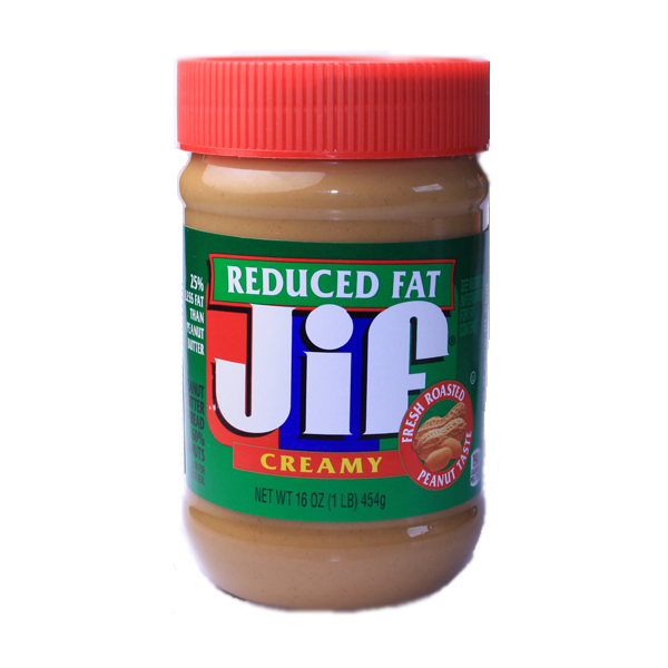 Jif Peanut Butter - creamy - reduced Fat