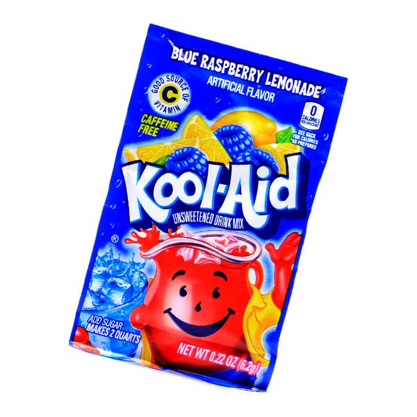 Kool Aid Drink Mix Blue Raspberry Lemonade Tüten