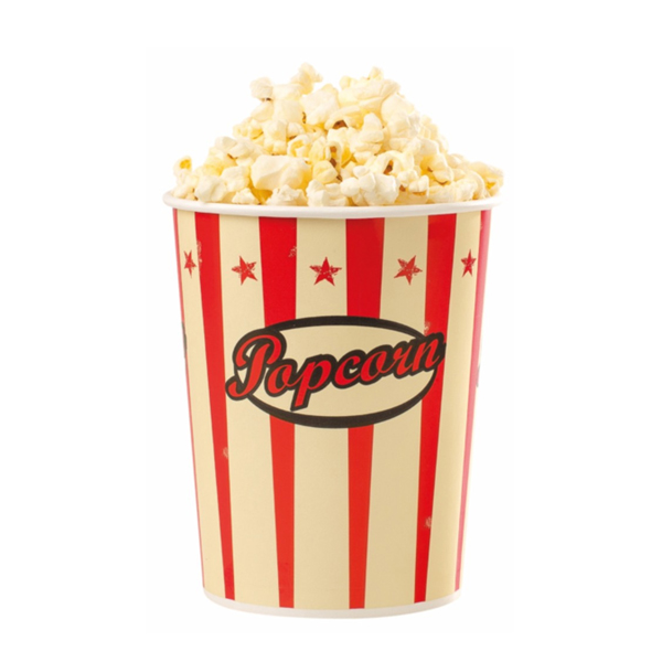 Popcornbecher Retro-Design 25 Stück