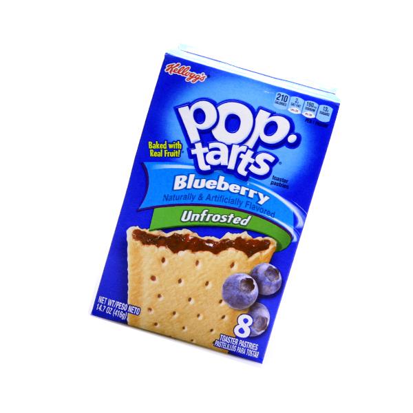 Kelloggs Pop-Tarts unfrosted Blueberry