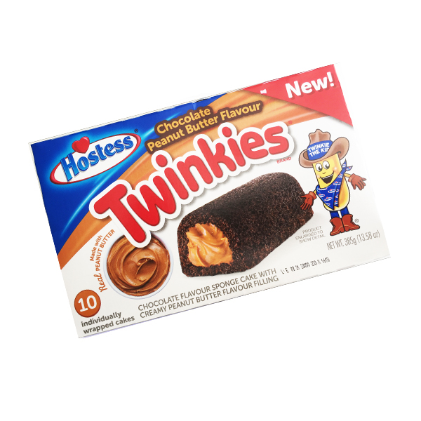Hostess Twinkies Chocolate. Peanut Butter - 10er Pack