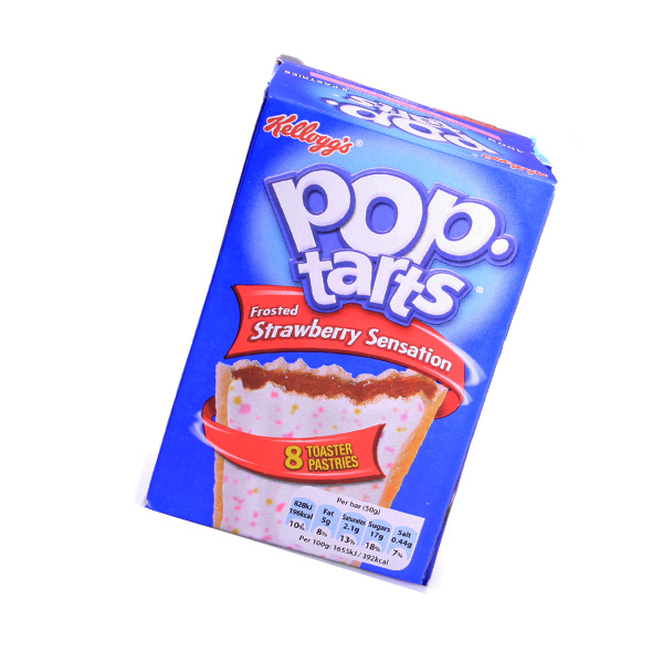 Kelloggs Pop-Tarts frosted Strawberry Sensation