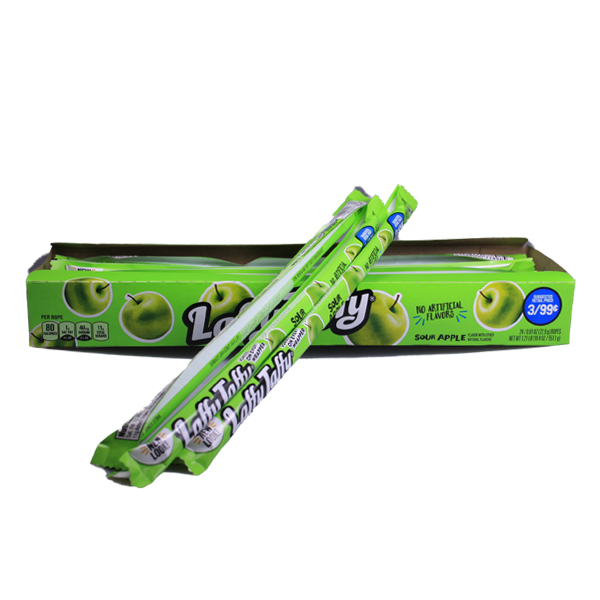 Wonka Laffy Taffy - sour apple 3er Pack