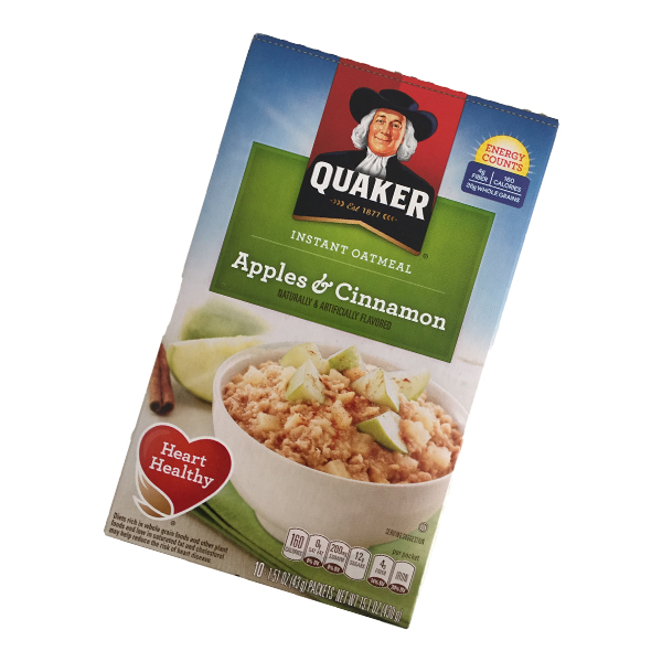 Quaker instant Oatmeal - Apples & Cinnamon
