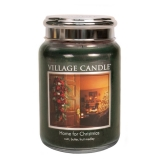 Village Candle Home for Christmas