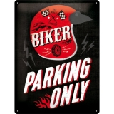 Nostalgic Art Biker Parking Only Blechschild 30x40 cm