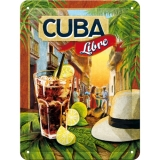 Nostalgic Art Cocktail Time Cuba Libre Blechschild 15x20 cm