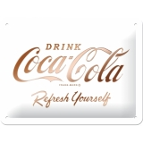 Nostalgic Art Coca Cola White Refresh Blechschild 15x20 cm