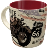 Nostalgic Art Route 66 Bike Map Tasse