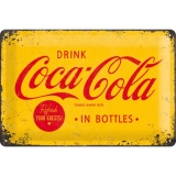 Coca-Cola Logo Yellow Blechschild