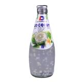 Coconut Water Drink mit Kokosstücken